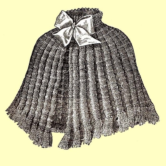 1910 Knitted Shoulder Cape Pattern