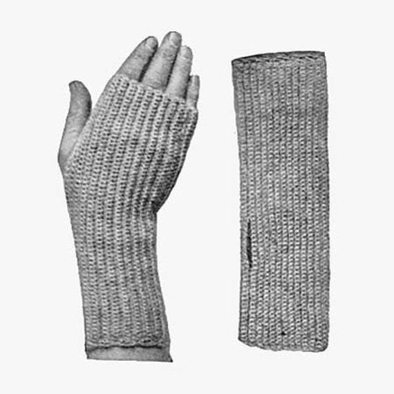 1916 Crocheted Fingerless Mittens Pattern