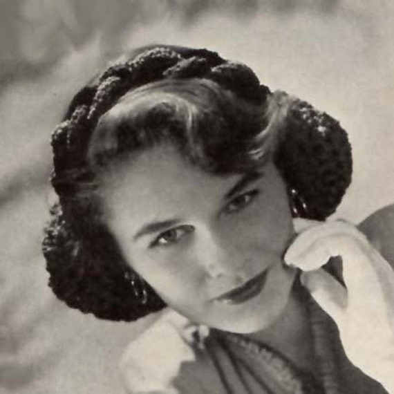 1944 Braided Head Band Snood Pattern