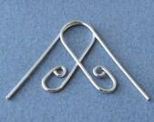 Interchangeable Earring Wires, Handmade Earwires, Sterling Silver Slide n Go Ear Wire Findings - Choice of Finish
