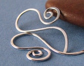 Handmade Earwires, Hammered Sterling Silver French Sassy Swirls, Interchangeable Earrings - Made in USA