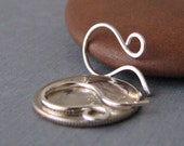 Silver Filled Tiny French Hoop Earwires, Handmade Findings, 2 pairs - Made in USA