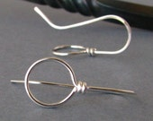 Silver Filled Ear Wires, Hammered Big Loops, Handmade Earring Supplies, Front Facing Ear Wires, 2 pairs - Made in USA