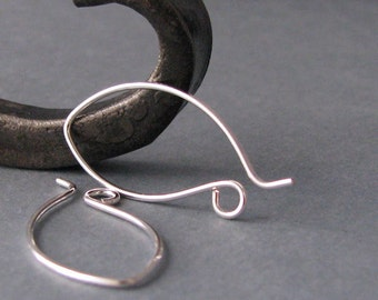 Handmade Ear Wires, Silver Filled Pixie Hoops, Artsian Jewelry Findings, 3 pairs - Made in USA