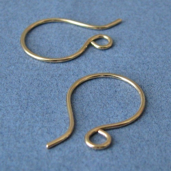 Ear Wires, 14k Gold Filled Mini French Hoops, Handmade Earring Components - 4 pairs