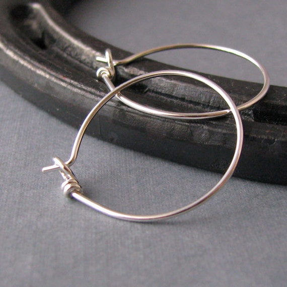 Silver Filled Sleeper Hoop Earrings, Handmade Jewelry Findings - Made in USA