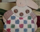 Prim Wooden Bunny, for Spring, for Easter