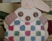 Prim Wooden Bunny, for Spring, for Easter