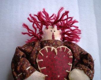 Mini Annie - with Heart - Ornament