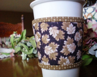 Cup Cozy - for Hot or Cold Beverages - for Fall