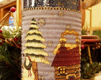 Decorative Tin - Winter - Gift Container - Snowman