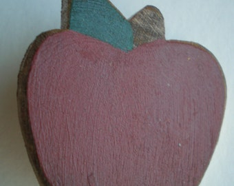Apple Brooch - Wooden - An Apple for your Teacher