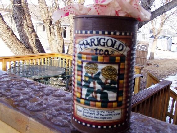 Decorative Tin - Tea Therapy - Marigold