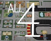 All of Toy Car Town - 4 ePatterns for Toy Car Play Mats