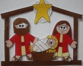 Baby in Bethlehem - ePattern for Print and Play Felt Figures