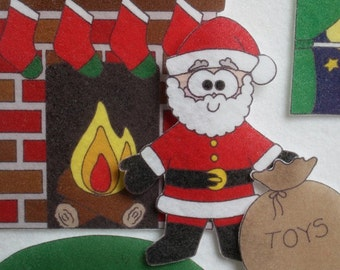 Night Before Christmas - ePattern for Print and Play Felt Figures