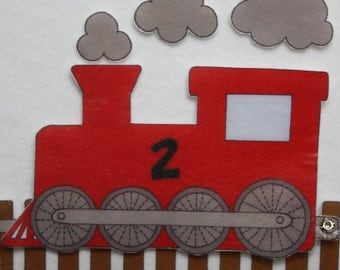 Ride the Rails - ePattern for Print and Play Felt Figures