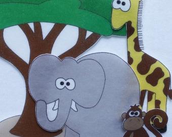 Safari Adventure - ePattern for Print and Play Felt Figures