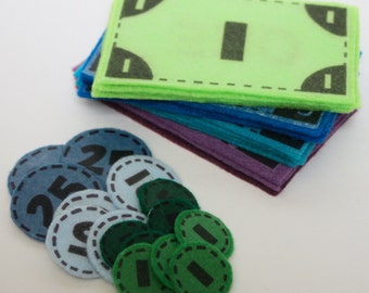 Funny Money - ePattern for Print and Play Felt Money