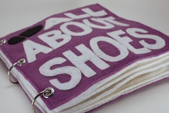 All About Shoes   Quiet Book Pattern, Busy Book Pattern, Travel Toys, Toddlers