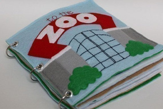 To the Zoo | Quiet Book Pattern, Busy Book Pattern, Travel Toys, Toddlers