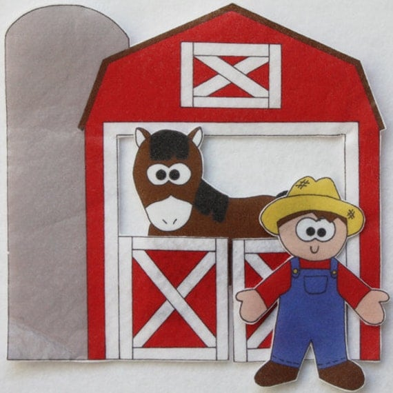 On McDonalds Farm -  ePattern for Print and Play Felt Figures