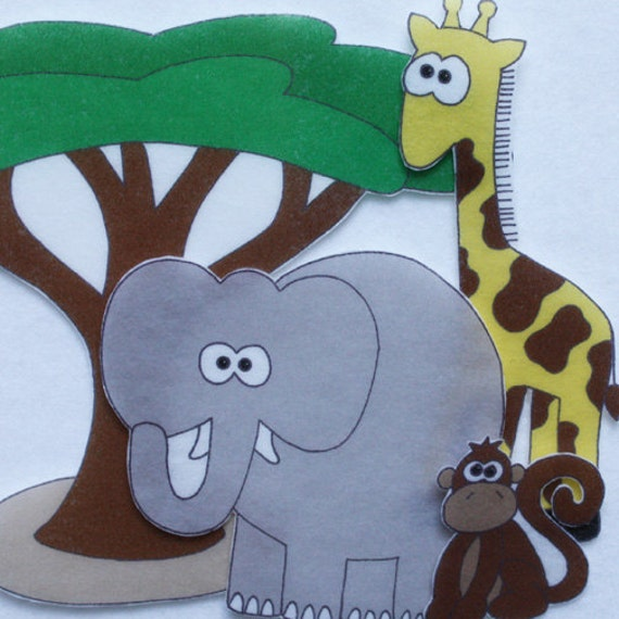 Safari Adventure - ePattern for Print and Play Felt Figures