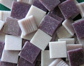 70 Piece Lavender Vitreous Glass Mosaic Tiles 3 Shades