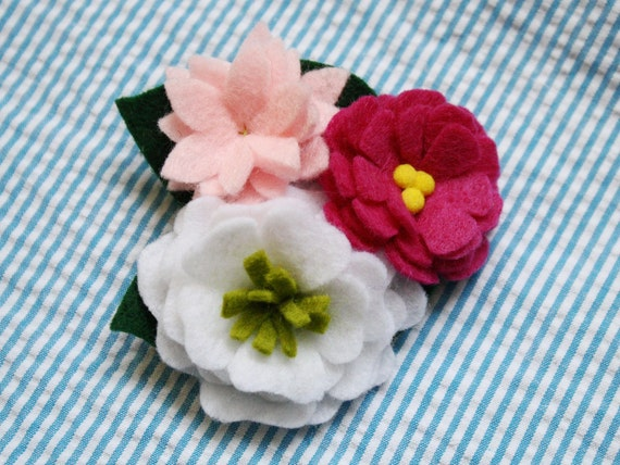 Dog Collar Flower - Pink Posey Trio
