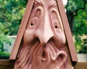 Birdhouse Handcarved Spirit Faced Father Time by Monte Spinker