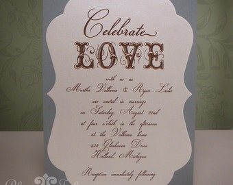 Celebrate Love Wedding Invitation