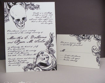 Baroque Elegance Skull Invitations