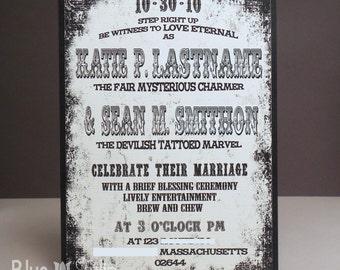 Vintage Circus Poster Wedding Invitation