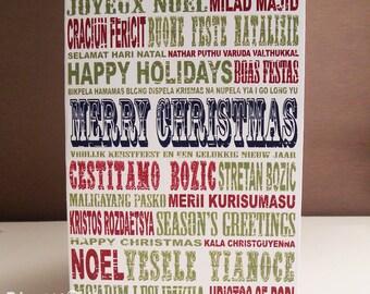 International Christmas Card DIGITAL file- YOU PRINT