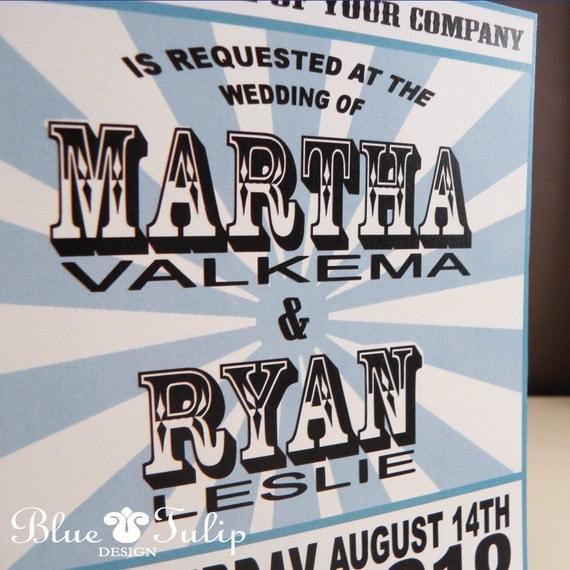 Vintage Rock Poster Wedding Invitation