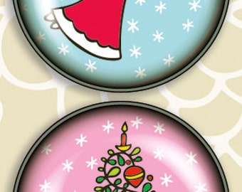 4 Pack of Amazingly Strong Magnets with Folk Holiday Design