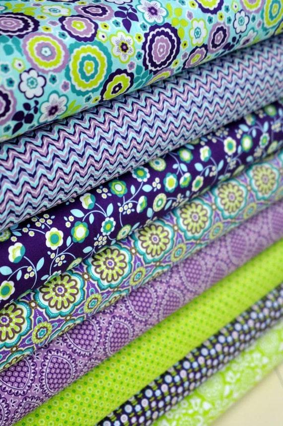 """Fat Quarter Bundles  - """"Bonjour""""  Collection (Purple Haze color story)"""