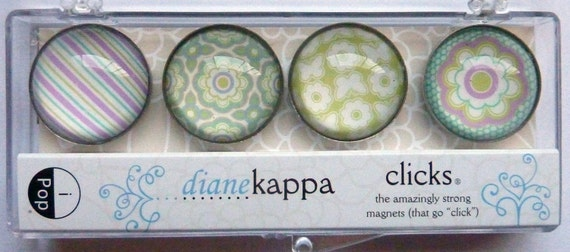Magnet Set / Refrigerator Magnets / Field of Flowers Design / iPop / Diane Kappa