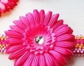 HOT PINK-GERBER DAISY FLOWER HAIR CLIP-Bling Center