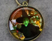 I'll Get You My Pretty - 219 / Glass Tile Bronze Key Chain /  Free Shipping