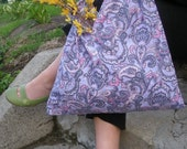 Paisley Recycled Pillowcase Bag \/ Market Tote