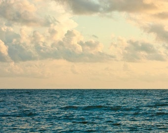Large Ocean Photograph, Ocean and Clouds, 16x20 Fine Art Photograph by Tricia McKellar, No. 9251