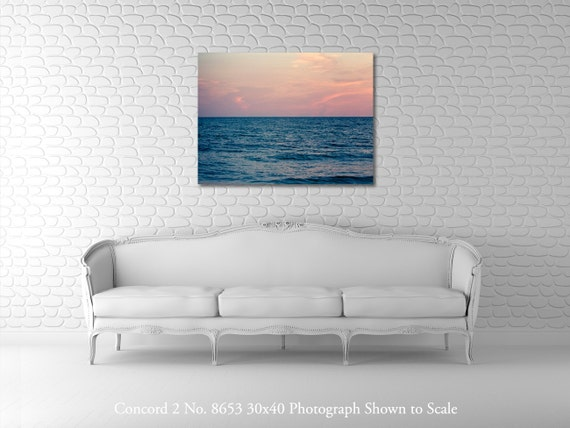 Oversized Art - Wall Decor - Large Art - Ocean Sunset - 30x40 Gallery-Wrapped Canvas - Fine Art Photography - Concord 2 No. 8653
