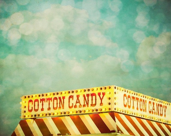 Cotton Candy. Carnival Food Sign 8x10 Fine Art Photography Print by Tricia McKellar. No. 2845