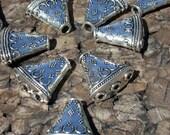 Tebet Silver Three Strand Spacer Cones