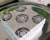 Reduce Reuse Recycle Tumbled Travertine Coasters, 4pk Gift Set /Stone Coasters/ Drink Coasters