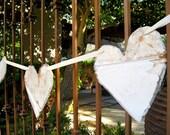 Antique Ceiling Tin Heart Banner