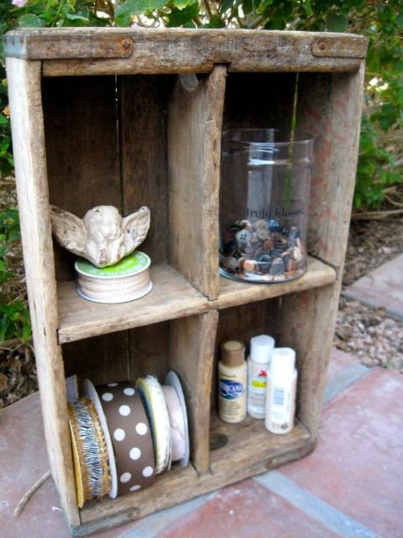 Vintage wood soda crate for Wooden soda crate ideas