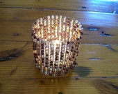 Woven Wire Candle Cover