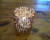 Custom made woven wire candle cover for Sabablue